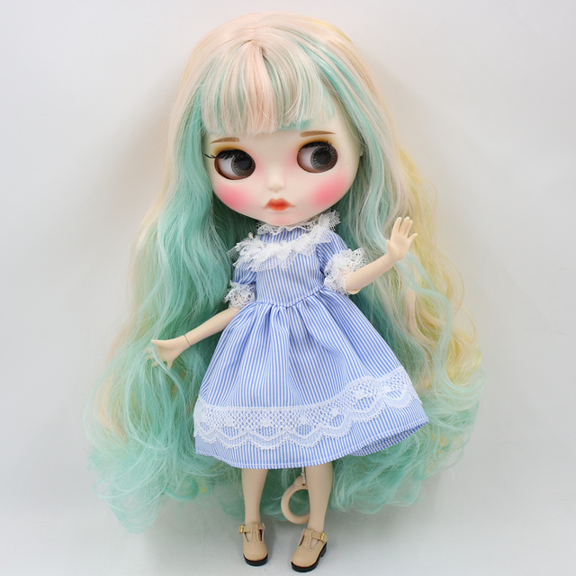 Aubrey – Premium Custom Blythe Doll with Full Outfit Pouty Face