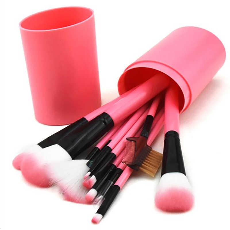 Фото Хорошее качество для женщин 12 шт бочка многоцветная Кисть макияжа Набор гладких