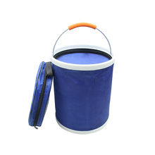 13L Collapsible Fishing Bucket Water Container Camping Oxford Cloth Boating Portable Waterproof Folding Storage Compact Hiking