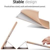 protective pu leather Tri-folded TPU Tablets Case For iPad Air 2 9.7 Soft Protective Covers PU Leather Tablet Smart Case For iPad Air Case iPad Air9.7 (5)