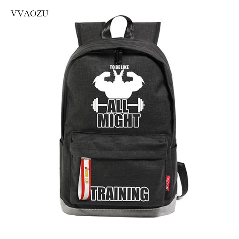 Boku No Hero Academia All Might Backpack Oxford Large Capacity Cartoon Students School Bag Backpacks For Teenage Boys Girls