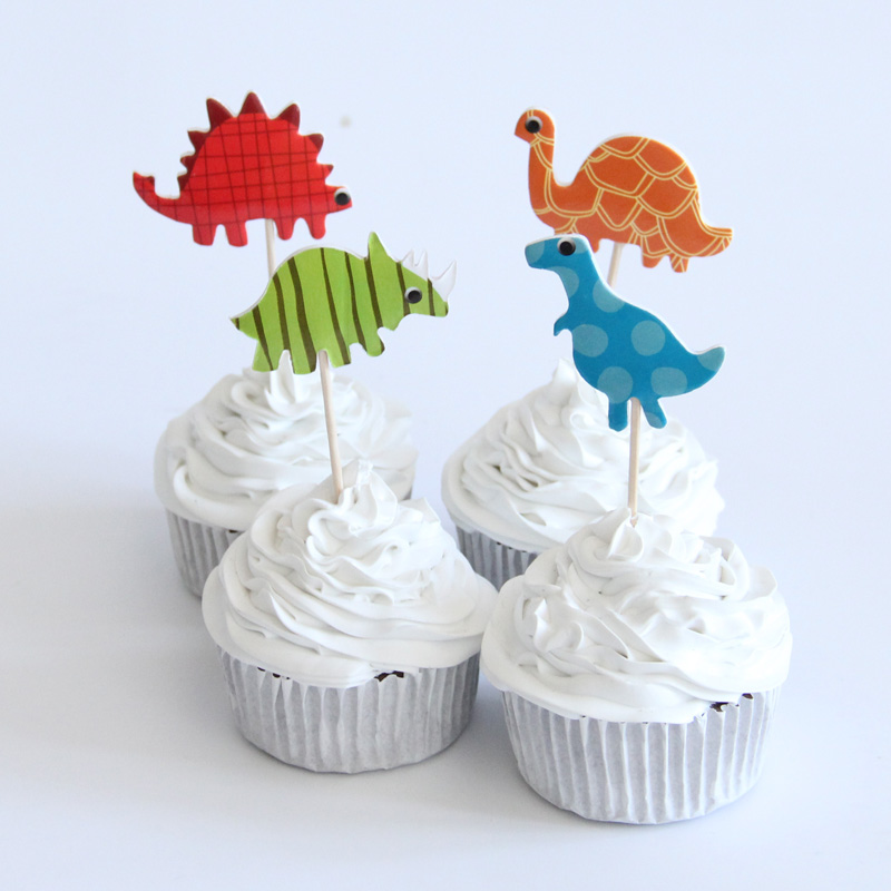 24pcs cartoon mermaid cupcake topper picks kid birthday party decoration YJUK