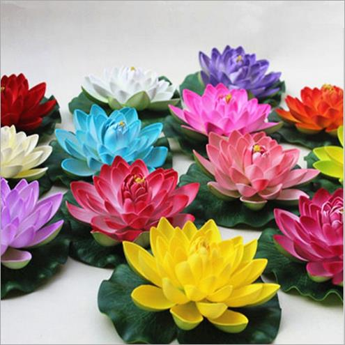 <font><b>Elegant</b></font> Artificial Lotus Flower Simulation Lotus Fish Tank Water Pool Flower for Wedding Decoration <font><b>Home</b></font> <font><b>Decor</b></font> 17CM