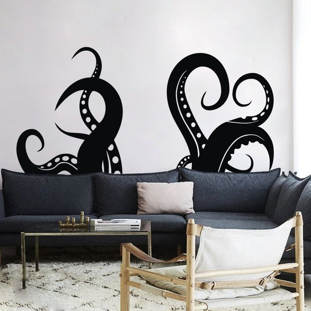 Octopus Tentacles Vinyl Wall Art Sea Animal Art Wall Sticker Octopus  Graphic Octopus Wall Decal 80