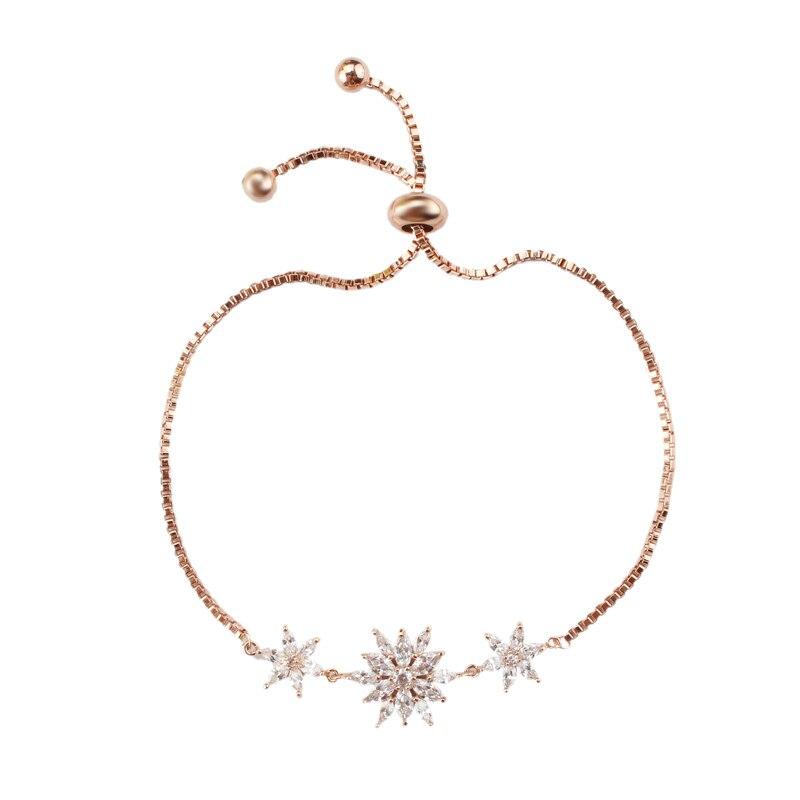 Starburst Flor espumante Cubic Zirconia CZ Cristal Pulseira de Zircão em  Tamanho Ajustável para As Mulheres fbb40c6bdd