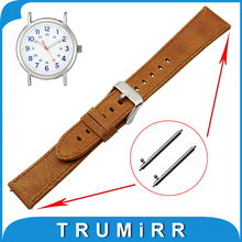 20mm 22mm Real Leather-based Watch Band Fast Launch Strap for Timex Weekender Expedition Belt Males Ladies Bracelet Brown + Device