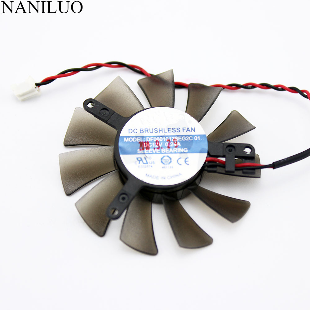 NANILUO DF0601012SEG2C 01 12V 0.24A 2Pin For ZOTAC <font><b>GT630</b></font> 6010 Graphics Card <font><b>Fan</b></font> image