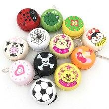 Милые принты в виде зверей деревянные игрушки йойо Божья коровка Дети йо-йо Творческий игрушки Йо-Йо для детей Дети йо-йо мяч G0149