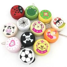 Juguetes De yoyó de madera estampados animales bonitos juguetes de mariquita Yoyo creativo para niños Yoyo Ball G0149
