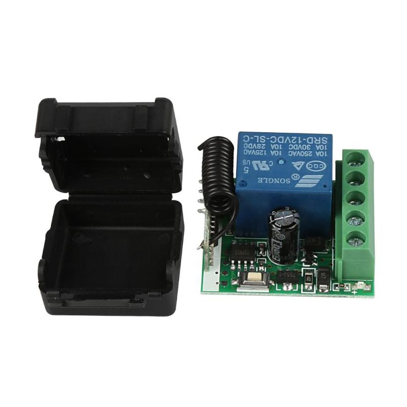 DC 12V 1CH 433MHz RF Universal Wireless Remote Control Switch Relay Receiver Diy Module for 433MHz Transmitter Learning Buttons