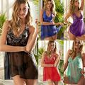 M-5XL Plus Size Lingerie de Renda Sexy Hot Bordado Pijamas Para As Mulheres Sexy Lingerie Intimate Mercadorias Sexo Juntos Transprent WL202