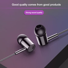 3.5MM In-ear Active Noise Cancelling Wired Stereo Bass Earphone With Mic Earbuds Headset For Phone Computer Headphone Dropship(China)