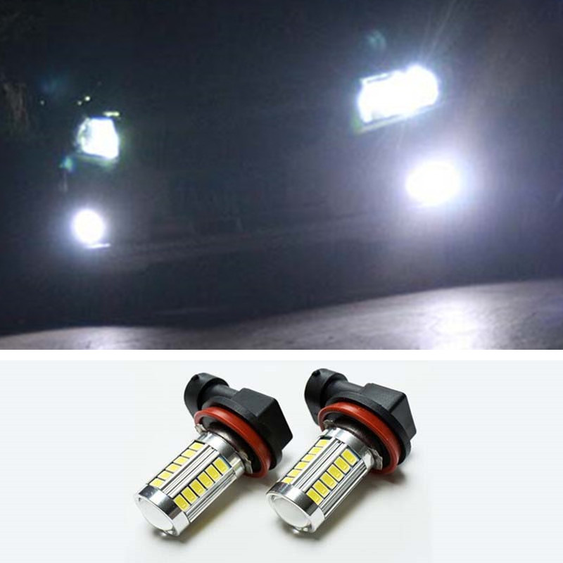 цены  2pcs 9006/HB4 5630 33SMD LED Fog DRL Light Bulb Lamp For Subaru WRX / VS / STi 2008-2013 Car Styling