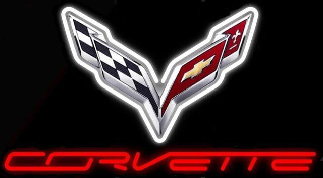 Custom Made Custom Chevrolet Corvette C7 Glass Neon Light Sign Beer Bar