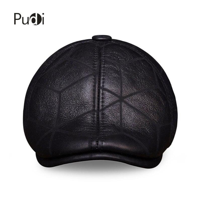 HL113 real couro boné de beisebol chapéu morno do inverno Russo homens  velhos boina jornaleiro Aba da orelha caps chapéus com verdadeira pele de  lã dentro ... 72cf0ef10c7