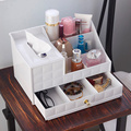 Desktop storage box plastic drawer cosmetic storage dressing table jewelry skin care products tissue storage box