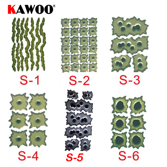 KAWOO 1Set Car Styling Personalized Stickers 3D Fake Bullet Hole Gun Shots Funny Car Helmet Decal Emblem Symbol Creative Sticker
