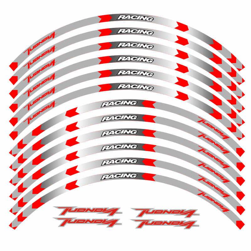 Motorcycle 17inchWheel Decal Reflective Sticker For Aprilia TUONO V4 1100 RR TUONO V4 1100 FACTORY TUONO V4 R APRC TUONO V4 RABS
