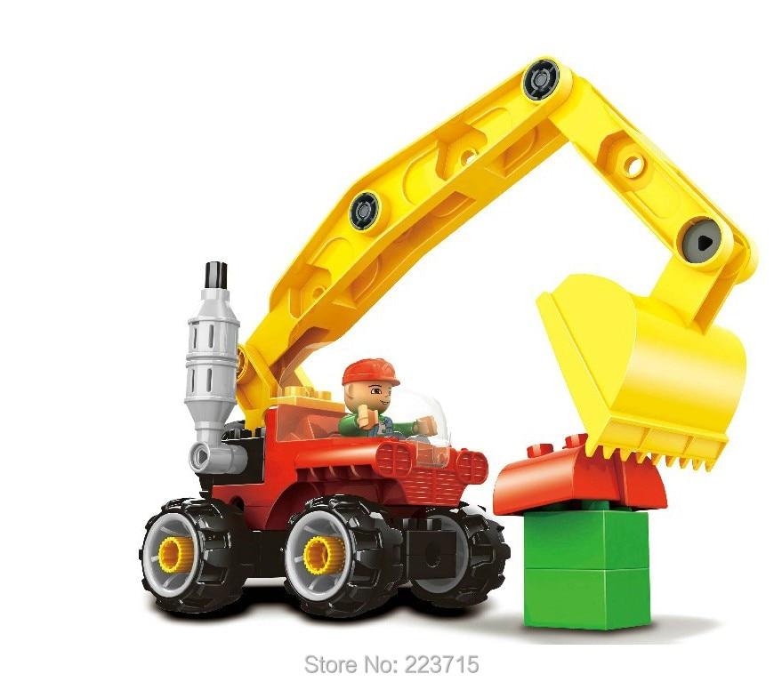 *Education Tractor* DIY enlighten block bricks,Compatible With Duplo Assembles Particles