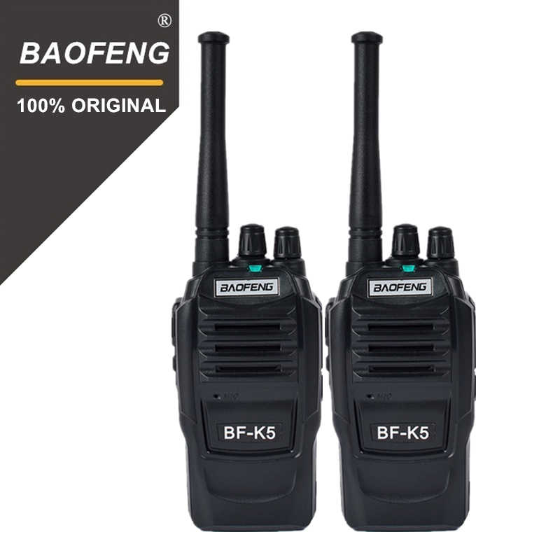 2 pcs Baofeng K5 100 Mile Talkie-walkie 400-470 mhz UHF Émetteur-Récepteur 1500 mah 2 Way Radio Amateur handy Interphone pour La Sécurité
