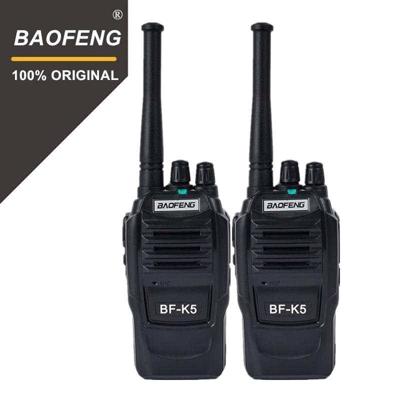 2pcs Baofeng K5 100 Mile Walkie Talkie 400-470MHz UHF Transceiver 1500mAh 2 Way Radio Amateur Handy Interphone for Security