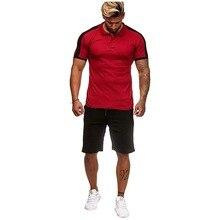 2019 New Summer Short sleeve Sets Men Casual Striped Print Tracksuits 2 pieces set men T-shirt+Shorts Male Hip Hop Set