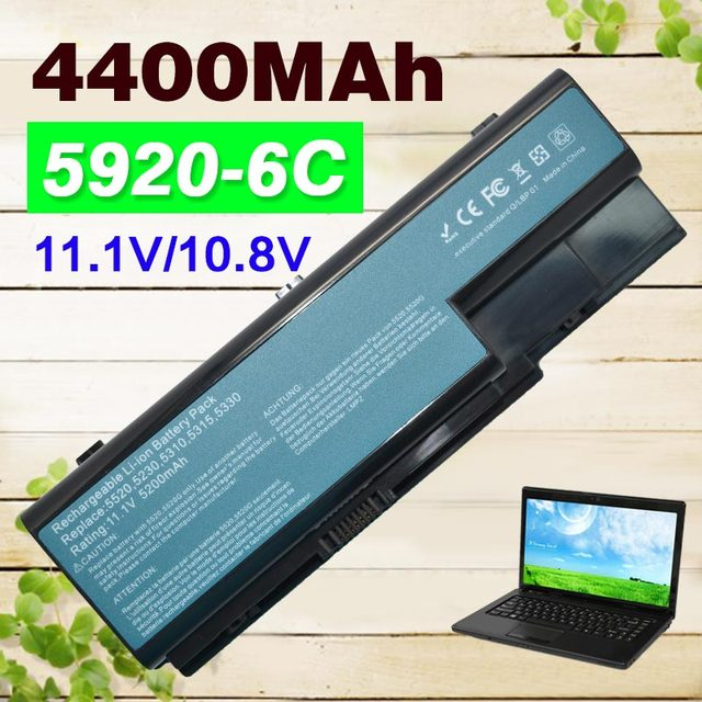 4400 mah batería para acer extensa 7230 7630 7630g travelmate 7230 7330 7530 7530g 7730 7730g as07b41 as07b42