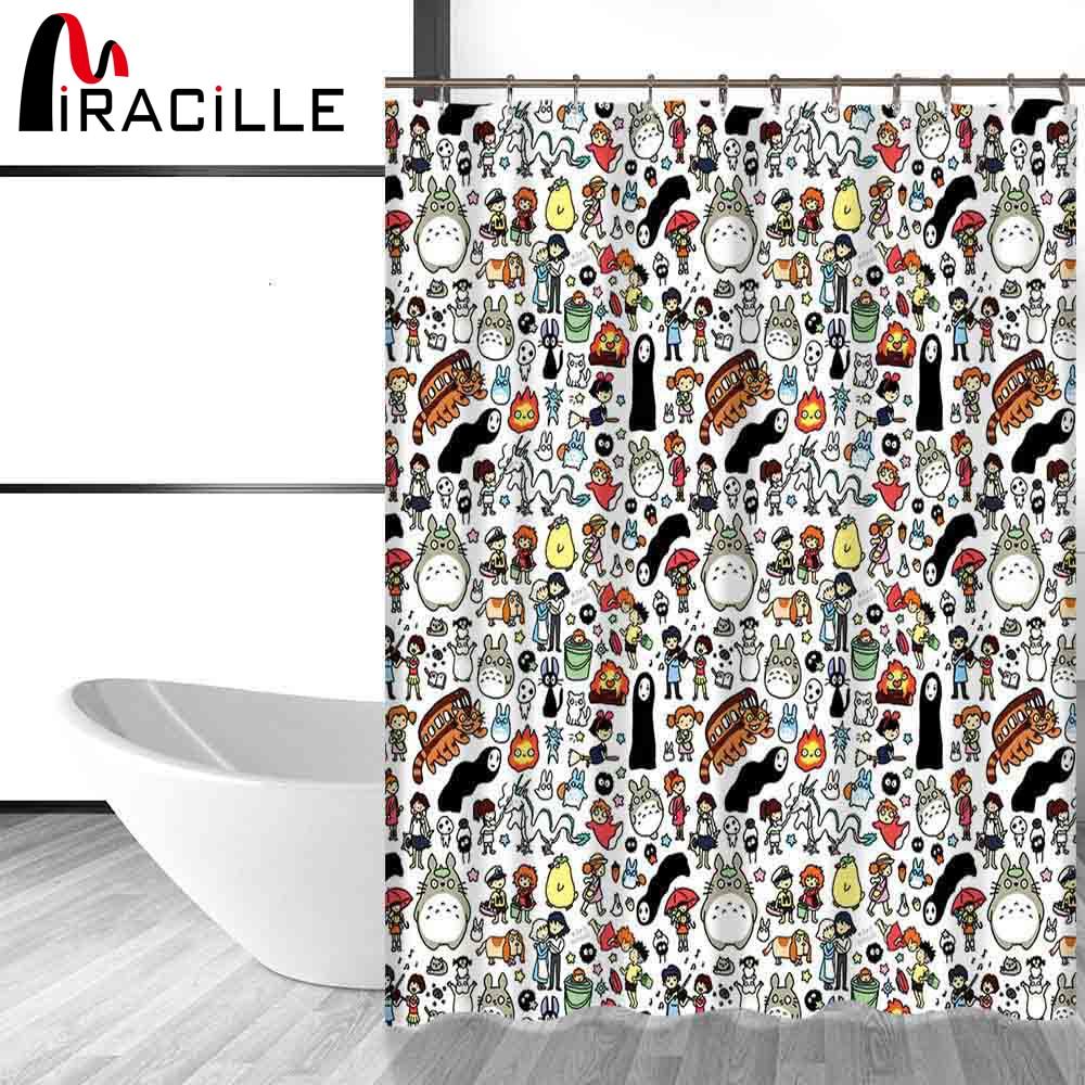 Miracille Totoro De Bande Dessin E Mignon Rideaux De Douche Salle De
