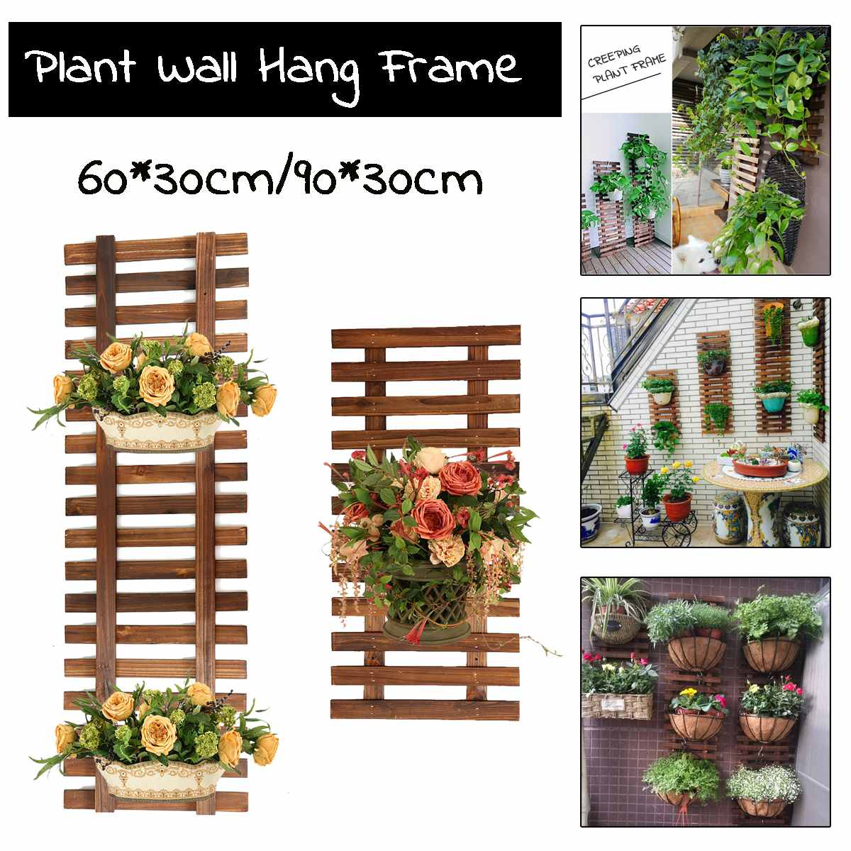Garden Rack Stand Flower Hanging Wall