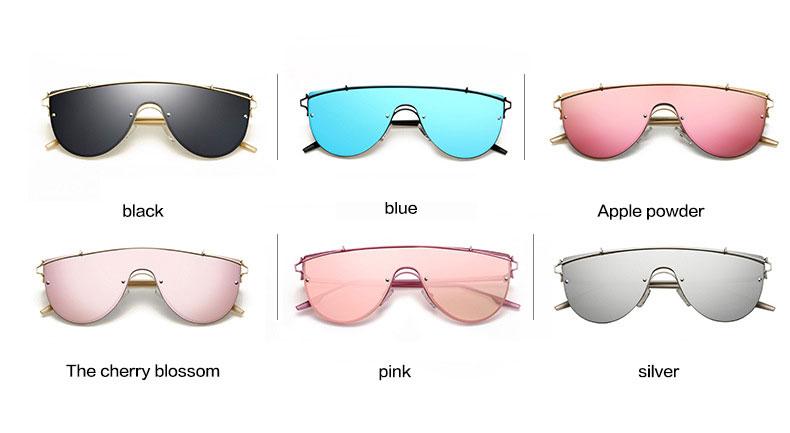 Modne luksuzne ženske dizajnerske sunčane naočale UV400 ogledalo - Pribor za odjeću - Foto 6