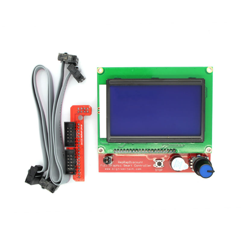 RAMPS1 4 LCD 12864 LCD Control Panel 3D Printer Smart Controller Free Shipping Drop Shipping