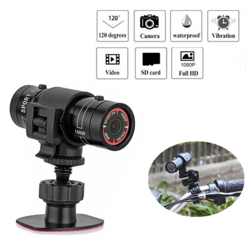 F9 Sports DV Waterproof mini Camera Outdoor Motorcycle Bike Camera HD 1080P 3MP Bicycle Helmet DV DVR Recorder Micro Camcorder