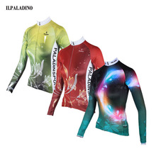 ILPALADINO Team Wear Ropa Ciclismo Cycling Jersey Women Bike Bicycle Long Sleeve Breathable Clothing Shirts