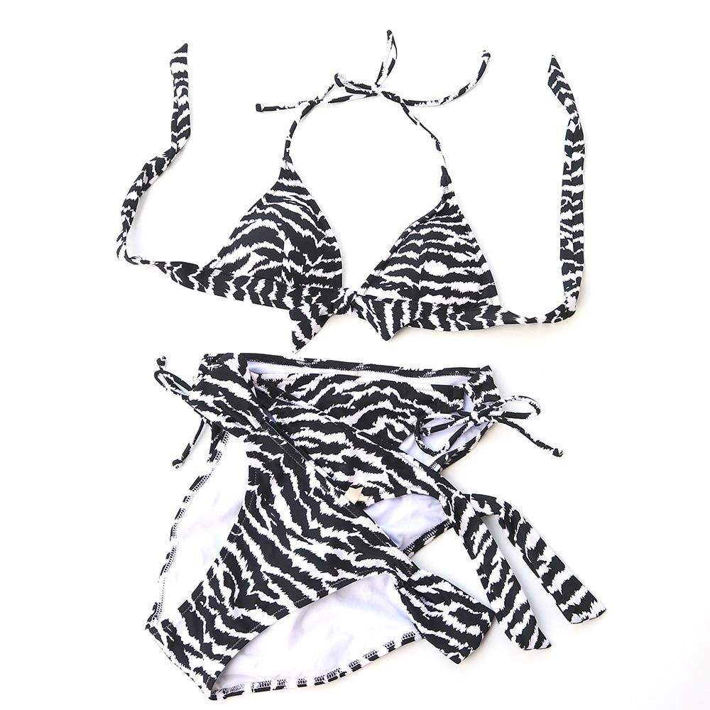 272c960af9dd 2018 Women Triangle Black white Zebra Stripe Bikini Swimsuit Brazilian Push  Up Brazilian Swimwear sexy Secret Maillot De Bain-in Bikinis Set from  Sports ...