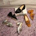 Moda Marca Square Fringe Borla de Las Mujeres Zapatos Mocasines de Gamuza Bombas Bloque Vestido de Tacón Chunky Cadenas Señoras zapatos mujer tacon