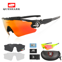 Queshark Men Women Polarized Cycling Glasses Sports MTB Bike