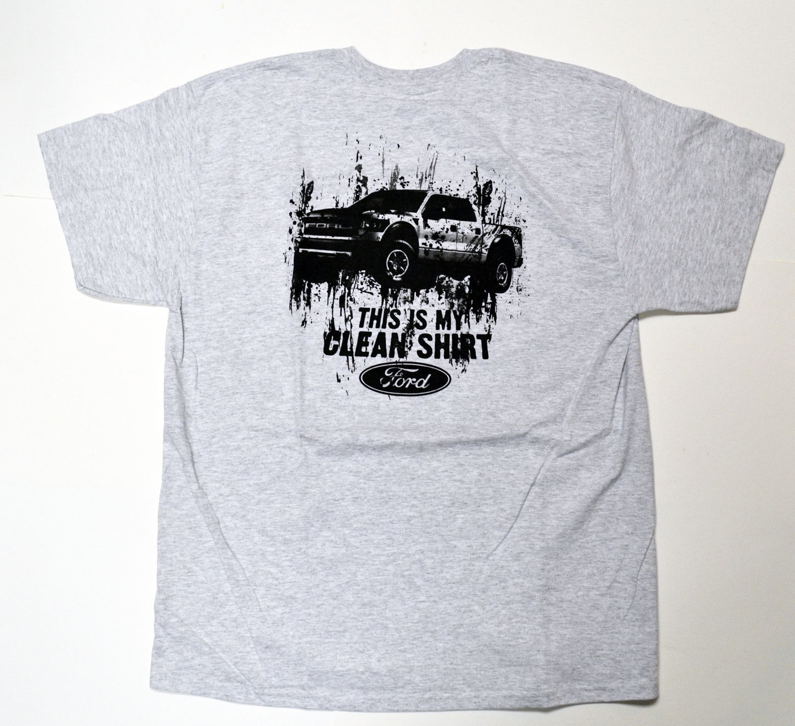 Ford Mens F-150 Raptor This is My Clean Shirt T-Shirt Gray ON SALE!