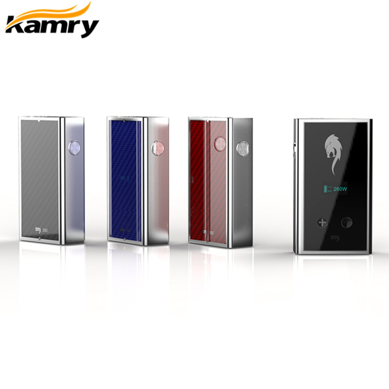 Kamry Smy260 Box Mod Electronic Cigarette Vape Variable Wattage Smy 260w VS Rx200s Tesla Fuchai 213 Cuboid Alien Mods Clearance benecig killer 260w mechanical mod