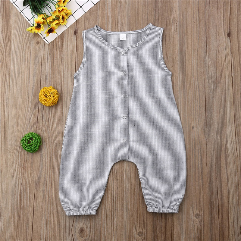 HTB1rqRgTmzqK1RjSZFLq6An2XXaV PUDCOCO Cute Kids Newborn Baby Boy Girl Cotton Linen Romper Solid Sleeveless Striped Jumpsuit Outfit Summer Casual Clothes 0-24M