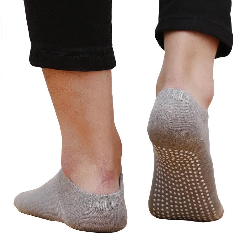 Men Professional Yoga Socks Polyester Anti Slip Rubber Dots Sports Indoor Exercise Breathable Socks For Pilates Workout Dance