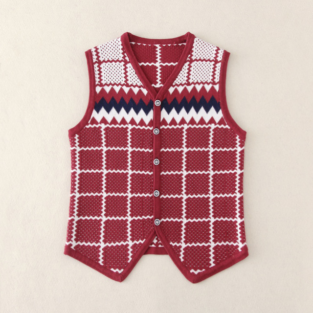 152a852eaee8 New Kids boy vest Fashion 2017 Children Preppy Style V neck Knitting ...