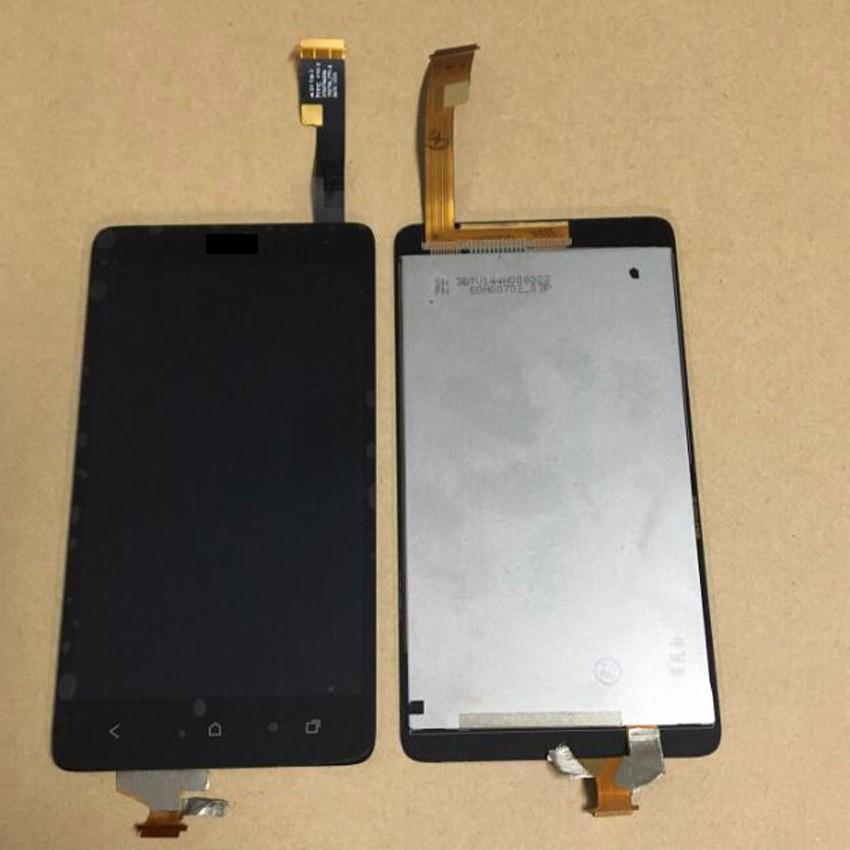 Prix pour Top Qualité Nouveau LCD Full Affichage à L'écran Tactile Digitizer Assemblée Pour HTC Desire 400 Dual Sim T528W Noir Pièce De Rechange