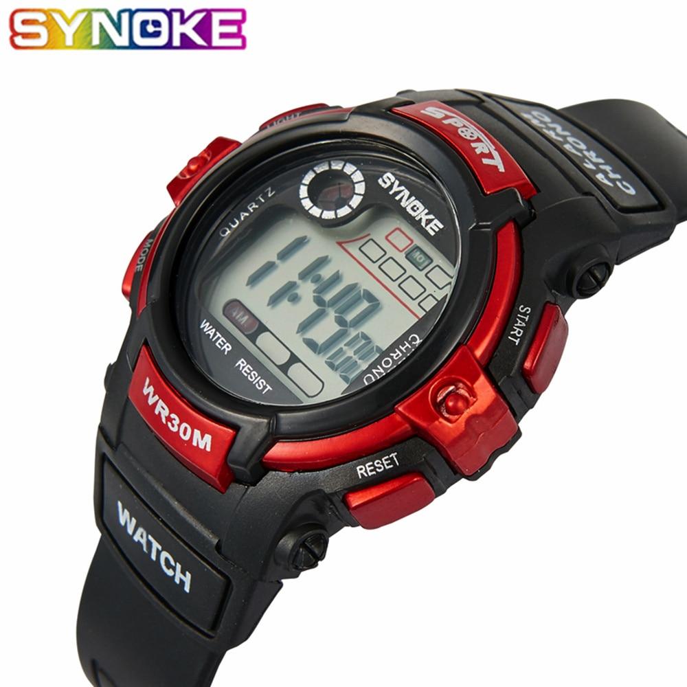 SYNOKE Sport Student Children Watch Boys Girls Watches Kids Clock Wristwatch Child LED Digital Wrist Watch For Girl Boy Gift