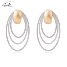 Badu Gold Silver Stainless Steel Stud Earrings for Women Big Hollowing Geometric Studs Punk Jewelry Gift Girls Wholesale