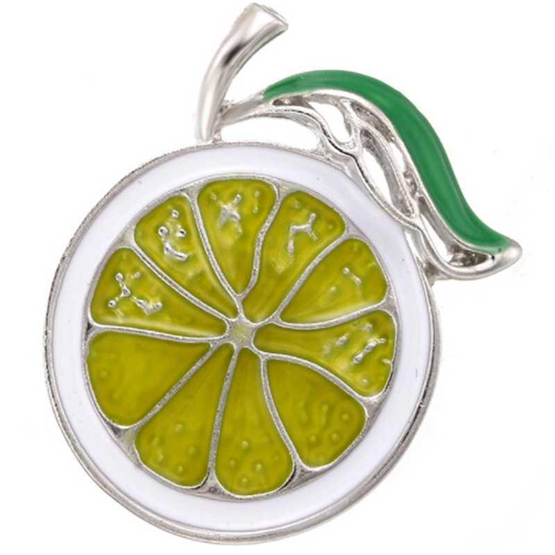 2018 Lemon Slices Korsase Bros Pin Emas Buah Warna Enamel Bros Untuk Aksesoris Pakaian Perhiasan Womon