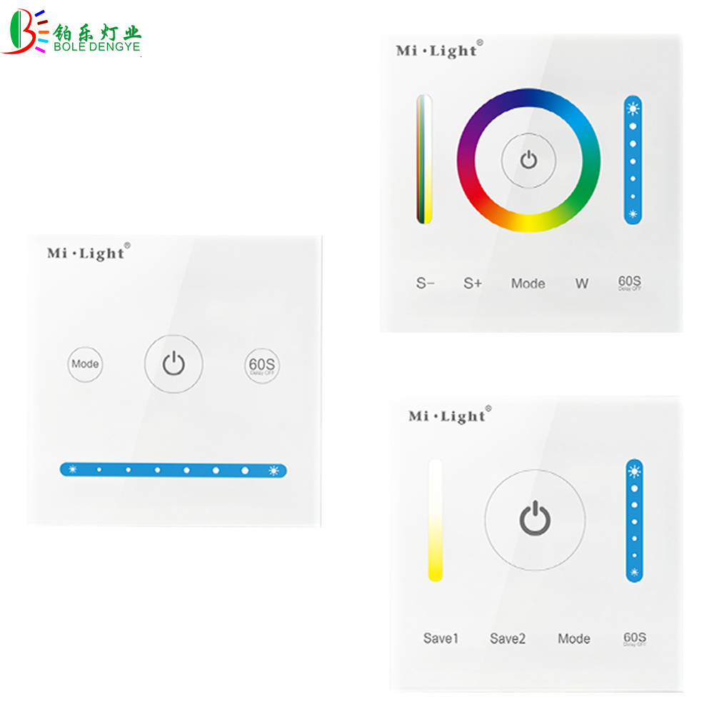 DC24V/12V RGB CCT Controller Dimmer Brightness Adjust Control Mi Light P1 P2 P3 Wall Mounted Panel Controller For LED Strip