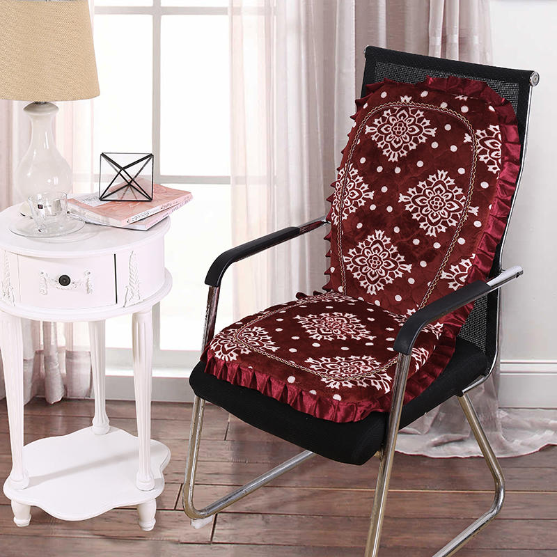Chair Cushion Flannel Pad Filler Printed Desk Seat/back