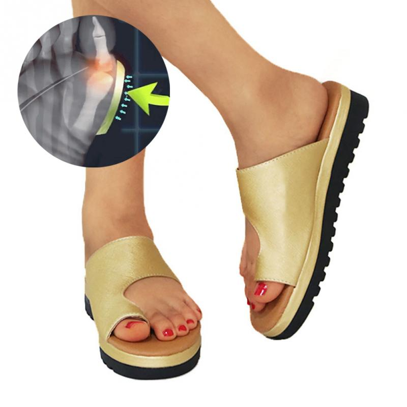 Women Outdoor Slippers Comfy Sandals Feet Bone Thumb Adjuster Correction Sandals Bunion Corrector Comfy Beach SandalsWomen Outdoor Slippers Comfy Sandals Feet Bone Thumb Adjuster Correction Sandals Bunion Corrector Comfy Beach Sandals