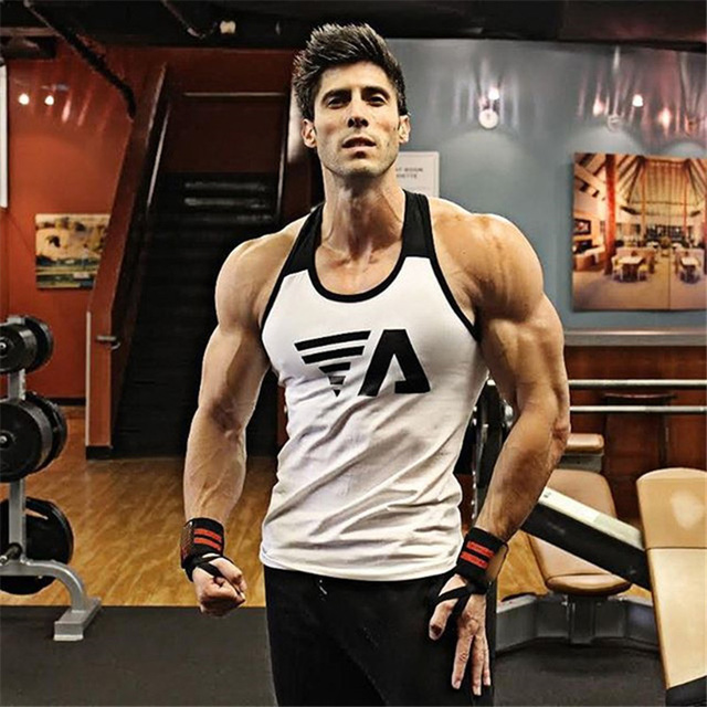 New 2018 Brand mens Summer men Tank Tops Clothing Bodybuilding Undershirt Casual Fitness tanktops tees CYY57 1