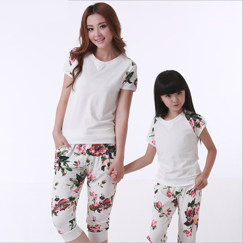 matching mother daughter clothes set family 2016 summer